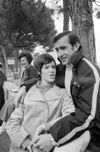 Jackie Stewart with wife, Helen.