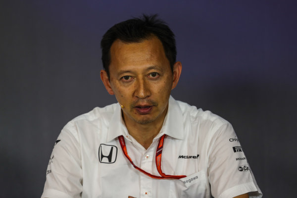 Yusuke Hasegawa (JPN) Head of Honda Motorsport in the Press Conference at Formula One World Championship, Rd9, Austrian Grand Prix, Practice, Spielberg, Austria, Friday 7 July 2017.