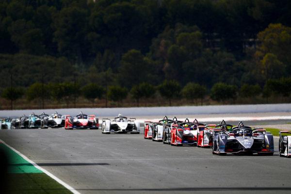 Sam Bird (GBR), Envision Virgin Racing, Audi e-tron FE06 and Daniel Abt (DEU), Audi Sport ABT Schaeffler, Audi e-tron FE06