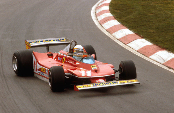 1979 Canadian Grand Prix.Montreal, Quebec, Canada.28-30 September 1979.Jody Scheckter (Ferrari 312T4) 4th position.Ref-79 CAN 01.World Copyright - LAT Photographic