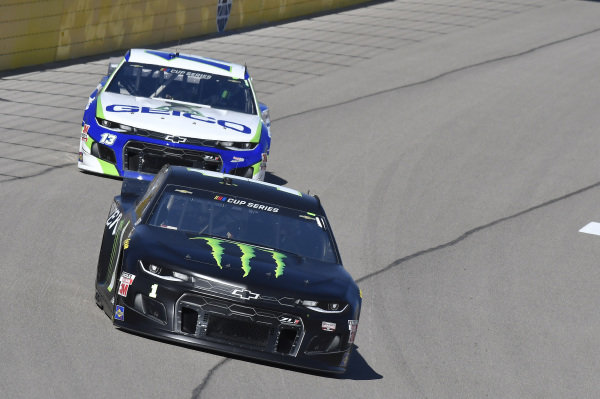 #1: Kurt Busch, Chip Ganassi Racing, Chevrolet Camaro Monster Energy, #13: Ty Dillon, Germain Racing, Chevrolet Camaro GEICO