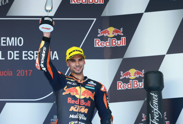 2017 Moto2 Championship - Round 4 Jerez, Spain Sunday 7 May 2017 Podium: third place Miguel Oliveira, Red Bull KTM Ajo World Copyright: Gold & Goose Photography/LAT Images ref: Digital Image 668732