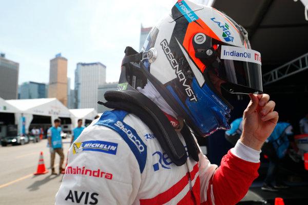 2017/2018 FIA Formula E Championship. Round 1 - Hong Kong, China. Saturday 02 December 2017. Felix Rosenqvist (SWE), Mahindra Racing, Mahindra M4Electro. Photo: Sam Bloxham/LAT/Formula E ref: Digital Image _J6I4394