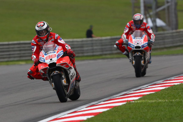 2017 MotoGP Championship - Round 17 Sepang, Malaysia. Sunday 29 October 2017 Jorge Lorenzo, Ducati Team World Copyright: Gold and Goose / LAT Images ref: Digital Image 26649