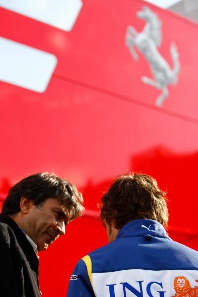 Spa Francorchamps, Spa, Belgium.6th September 2008.Fernando Alonso, Renault R28. Portrait. World Copyright: Charles Coates/LAT Photographicref: Digital Image _26Y8445