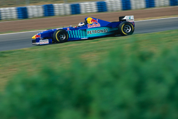 Catalunya, Barcelona, Spain. 23-25 May 1997.Gianni Morbidelli (Sauber C16 Petronas).Ref-97 ESP 14.World Copyright - LAT Photographic