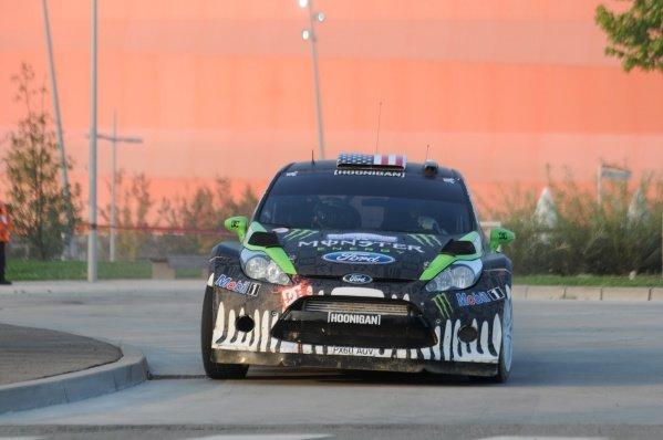 Ken Block (USA), Ford Fiesta RS WRC, on the Shakedown stage.FIA World Rally Championship, Rd11, Rallye de France, Strasbourg, Alsace, France. Shakedown, Thursday 29 September 2011.