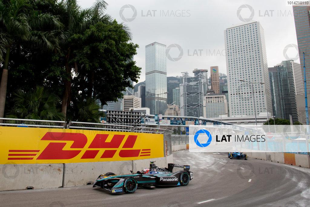 2016/2017 FIA Formula E Championship. Hong Kong ePrix, Hong Kong, China. Saturday 8 October 2016. Mitch Evans (NZL), Jaguar Racing, Spark-Jaguar, Jaguar I-Type 1.  Photo: Alastair Staley/LAT/Formula E ref: Digital Image 580A9173