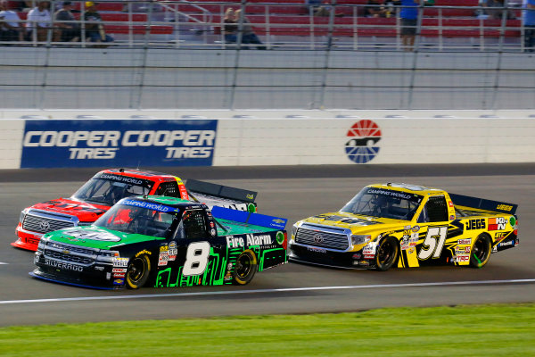 1 October, 2016, Las Vegas, Nevada USA John Hunter Nemechek, Cameron Hayley and Cody Coughlin ?2016, Russell LaBounty LAT Photo USA