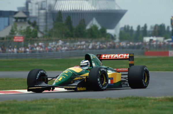 Montreal, Quebec, Canada. 12-14 June 1992.Mika Hakkinen (Lotus 107-Ford) retired, action.World Copyright - LAT Photographic