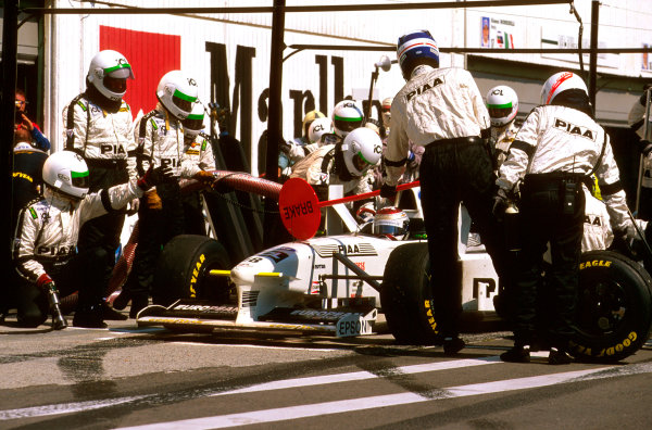 Hungaroring, Hungary.8-10 August 1997.Jos Verstappen (Tyrrell 025 Ford) failed to finish when he had a pneumatic leak.Ref-97 HUN 29.World  Copyright - LAT Photographic