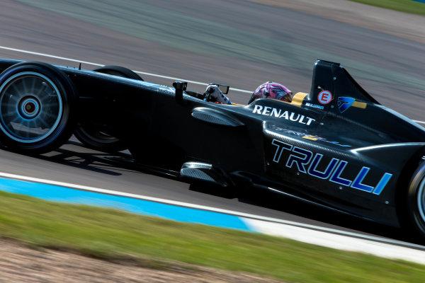 2014 Formula E Championship Donington Park Test Jarno Trulli (ITA) Trulli Michela Cerruti (ITA) Trulli Friday 4 July 2014. Photo Agency:LAT Photographic ref: Digital Image F80P8216