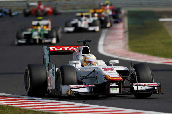 Race 1 winner Arthur Pic (FRA) Campos Racing. GP2 Series, Rd7, Hungaroring, Hungary. 26-27 July 2014.