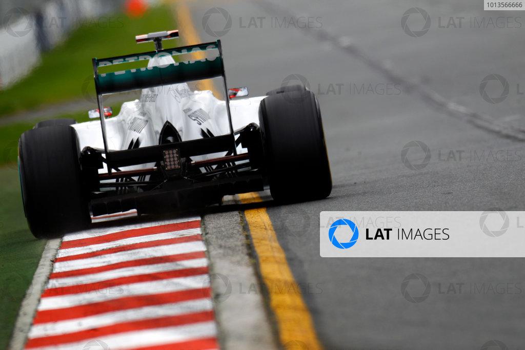 Albert Park, Melbourne, Australia 25th March 2011. Michael Schumacher, Mercedes GP W02. Action.  World Copyright: Glenn Dunbar/LAT Photographic ref: Digital Image _G7C3176