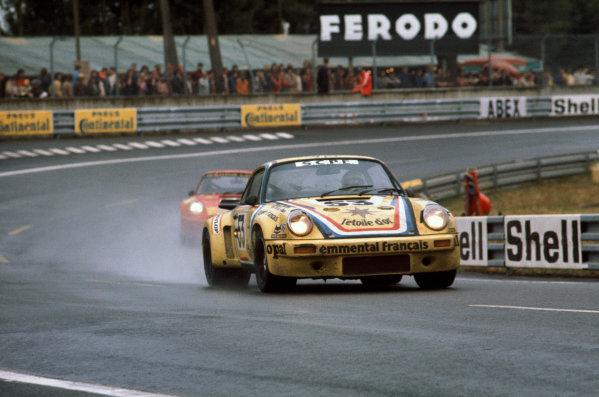 Le Mans, France. 14-15 June 1975.Jacques Borras/Pascal Moisson/Henri Cachia (Porsche Carrera RSR), 7th position, action. World Copyright: LAT PhotographicRef: 75LM10.