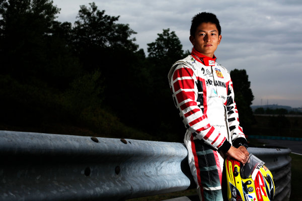 Round 6. Hungaroring, Budapest, Hungary, 28th July 2011.Thursday Preview. Rio Haryanto, (INA, Marussia Manor Racing) winner of race 9 at round five at the Nurburgring, Germany. Portrait. Photo: Drew Gibson/GP3 Media Service. ref: Digital Image DG5D7880