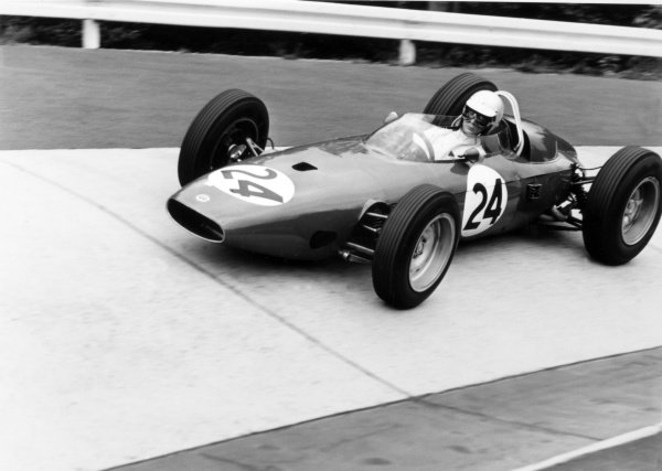 1965 German Grand Prix.Nurburgring, Germany. 1 August 1965.Masten Gregory, BRM P57, 8th position, action.World Copyright: LAT PhotographicRef: 30429