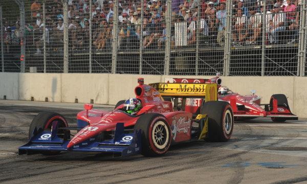 2-4 September, 2011, Baltimore, Maryland USA#10 Target Chip Ganassi Racing's Dario Franchitti with Scott Dixon.(c)2011,  Dan R. Boyd  LAT Photo USA