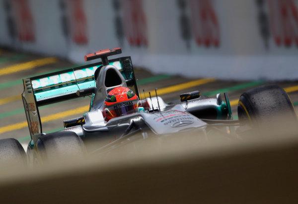 Interlagos, Sao Paulo, Brazil. 26th November 2011. Michael Schumacher, Mercedes GP W02. Action.  World Copyright: Steve Etherington/LAT Photographic ref: Digital Image SNE27224