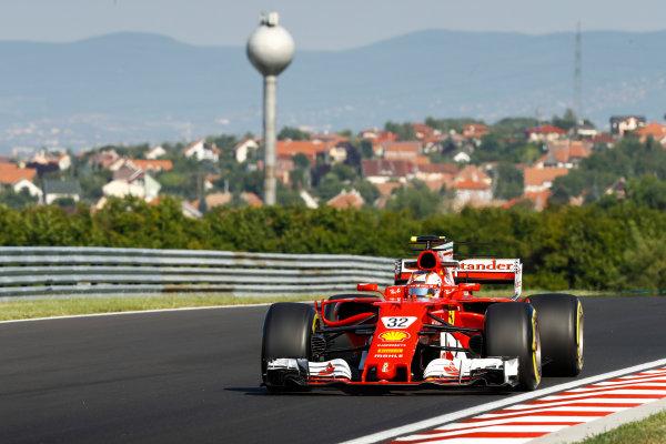 Hungaroring, Budapest, Hungary.  Tuesday 01 August 2017. Charles Leclerc, Ferrari SF70H. World Copyright: Joe Portlock/LAT Images  ref: Digital Image _R3I9935
