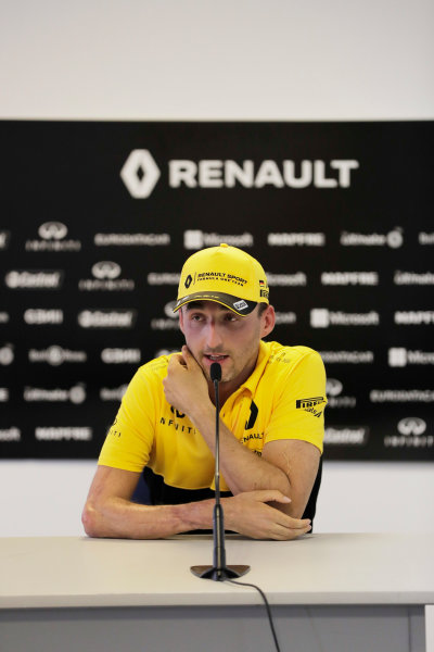 Hungaroring, Budapest, Hungary.  Wednesday 02 August 2017. Robert Kubica, Renault. World Copyright: Zak Mauger/LAT Images  ref: Digital Image _54I9226