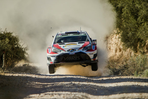 2017 FIA World Rally Championship, Round 11, Rally RACC Catalunya / Rally de España, 5-8 October, 2017, Juho Hanigen, Toyota, action, Worldwide Copyright: LAT/McKlein