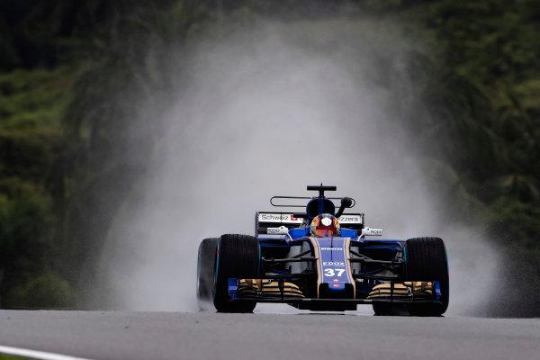 Sepang International Circuit, Sepang, Malaysia. Friday 29 September 2017. Charles Leclerc, Sauber C36-Ferrari. World Copyright: Glenn Dunbar/LAT Images  ref: Digital Image _X4I9457