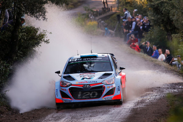 2015 World Rally Championship Round 11, Tour de Corse  1st - 4th October, 2015 Kevin Abbring, Hyundai, action  Worldwide Copyright: McKlein/LAT