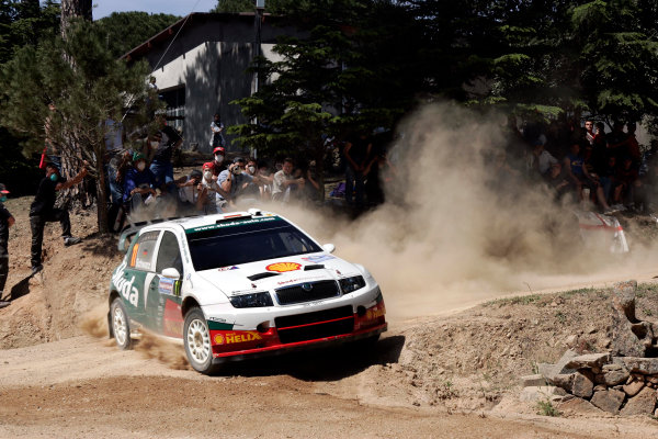 2005 World Rally Championship Rallye d'Italia, Sardinia, Italy. 29th April - 1st May 2005Armin Schwarz (Skoda Fabia WRC), action.World Copyright: McKlein/LAT Photographic ref: Digital Image Only