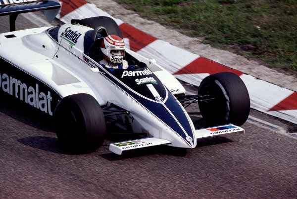 1982 Dutch Grand Prix.Zandvoort, Holland.1-3 July 1982.Nelson Piquet (Brabham BT50 BMW) 2nd position.Ref-82 HOL 70.World Copyright - LAT Photographic