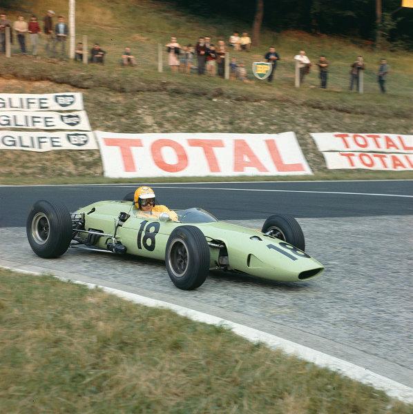 1964 French Grand Prix. Rouen-les-Essarts, France. 26-28 June 1964. Trevor Taylor (BRP 2 BRM). Ref-64 FRA MF01. World Copyright - LAT Photographic