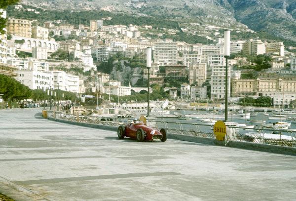 1957 Monaco Grand Prix.Monte Carlo, Monaco.16-19 May 1957.Andre Simon (Maserati 250F). He failed to qualify.Ref-57 MON 13.World Copyright - LAT Photographic