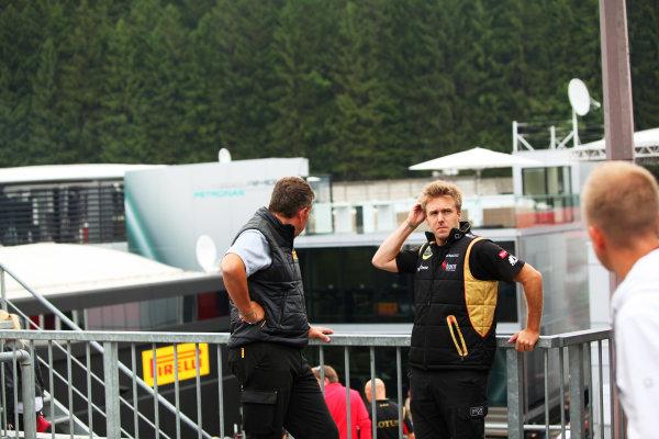 Spa-Francorchamps, Spa, Belgium. 24th August 2013. Davide Valsecchi, Third Driver, Lotus F1. World Copyright: Sam Bloxham/LAT Photographic. ref: Digital Image IMG_7952.
