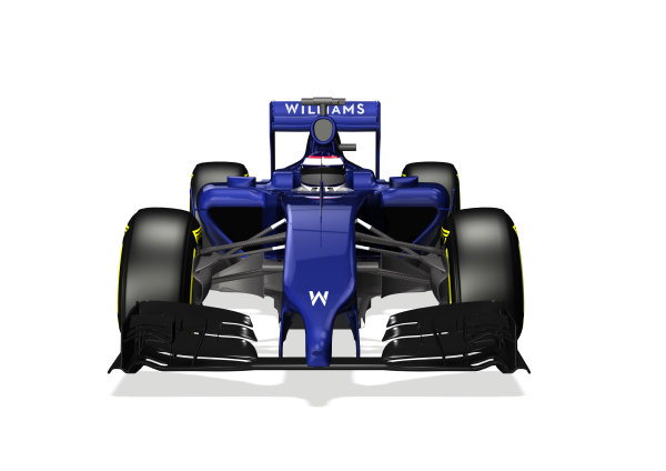 Williams FW36 Online Launch Images 23 January 2014 Photo: Williams (Copyright Free FOR EDITORIAL USE ONLY) ref: Digital Image WF1_FW36_FRONT_LOW