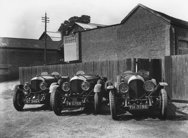 1929 Le Mans 24 hours.These are all Bentley works team cars; l to r:Old No 1 Speed Six and two 4 5 litre cars - the one on the right was the first, effectively a 3/4 5.Ref: Red 5750.World Copyright: LAT Photographic.