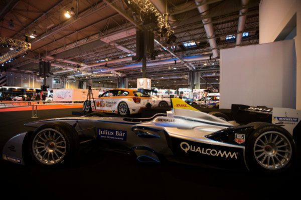 Autosport International Exhibition. National Exhibition Centre, Birmingham, UK. Friday 9 January 2015. Formula E car on the Autosport stage. World Copyright: Zak Mauger/LAT Photographic. ref: Digital Image _L0U2992