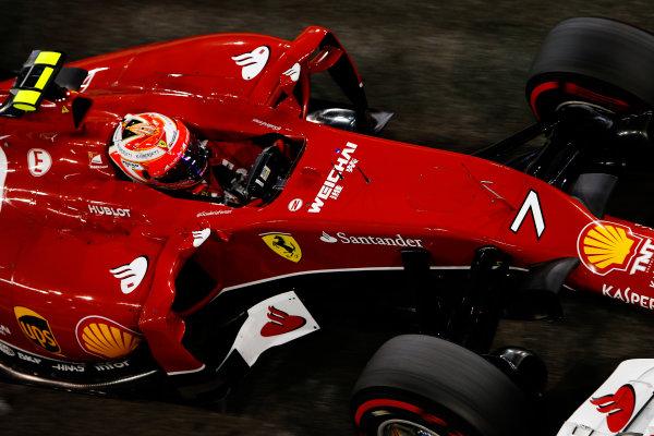 Yas Marina Circuit, Abu Dhabi, United Arab Emirates. Saturday 22 November 2014. Kimi Raikkonen, Ferrari F14T. World Copyright: Charles Coates/LAT Photographic. ref: Digital Image _J5R5050