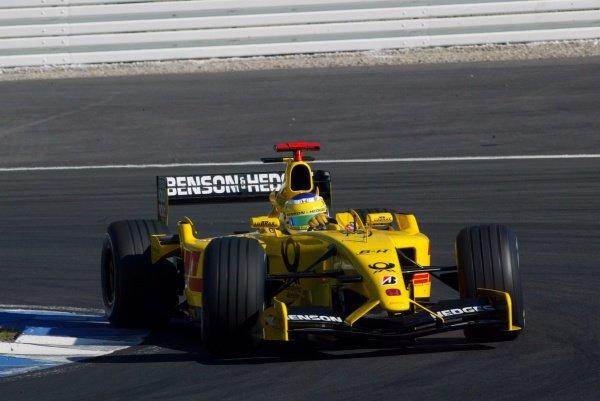Giancarlo Fisichella (ITA) Jordan Honda EJ12.German Grand Prix, Hockenheim, Germany, 28 July 2002.DIGITAL IMAGE