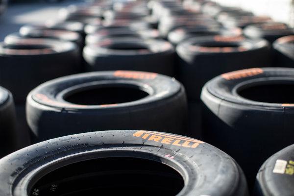 2017 FIA Formula 2 Round 10. Circuito de Jerez, Jerez, Spain. Thursday 5 October 2017. Pirelli tyres. Photo: Andrew Ferraro/FIA Formula 2. ref: Digital Image _FER8047