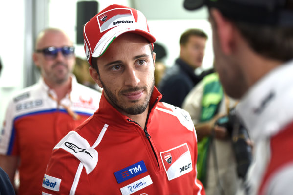 2017 MotoGP Championship - Round 12 Silverstone, Northamptonshire, UK. Thursday 24 August 2017 Andrea Dovizioso, Ducati Team World Copyright: Gold and Goose / LAT Images ref: Digital Image 688319