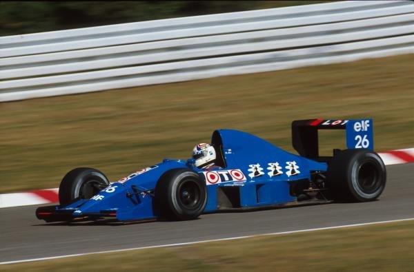 Phillipe Alliot(FRA), Ligier JS33B, disqualified German GP, Hockenheim, Germany, 29 July 1990