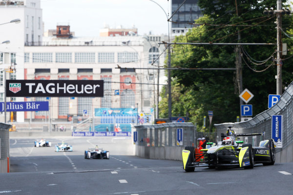 2014/2015 FIA Formula E Championship. Moscow ePrix, Moscow, Russia. Saturday 6 June 2015 Antonio Garcia (SPA)/China Racing - Spark-Renault SRT_01E. Photo: Zak Mauger/LAT/Formula E ref: Digital Image _L0U0432