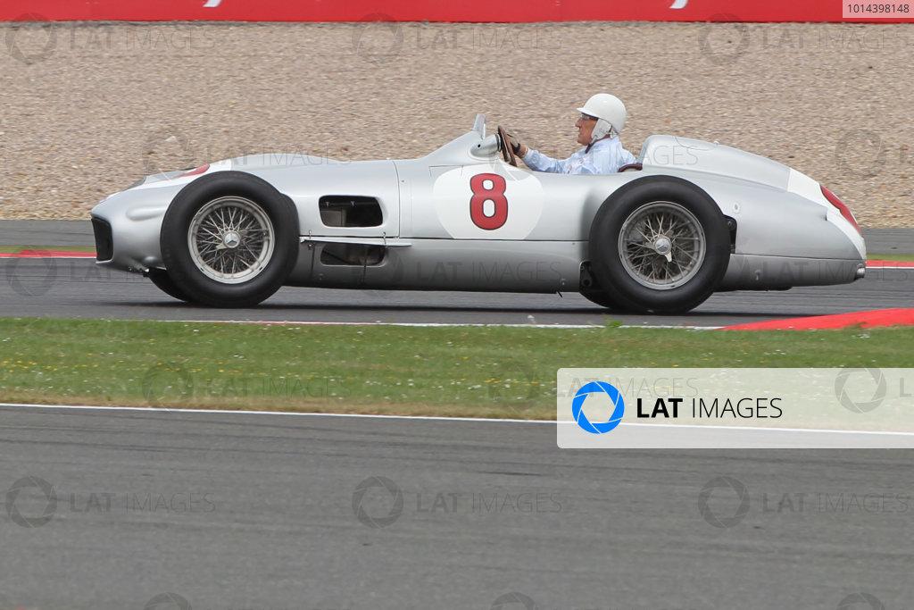 Silverstone Circuit, Northamptonshire, England. Sunday 5th July 2015 Stirling Moss Mercedes World Copyright: Jakob Ebrey/LAT Photographic