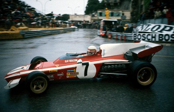 Monte Carlo, Monaco. 14 May 1972.Clay Regazzoni (Ferrari 312B2), retired, action. World Copyright: LAT Photographic.Ref:  72MON35.