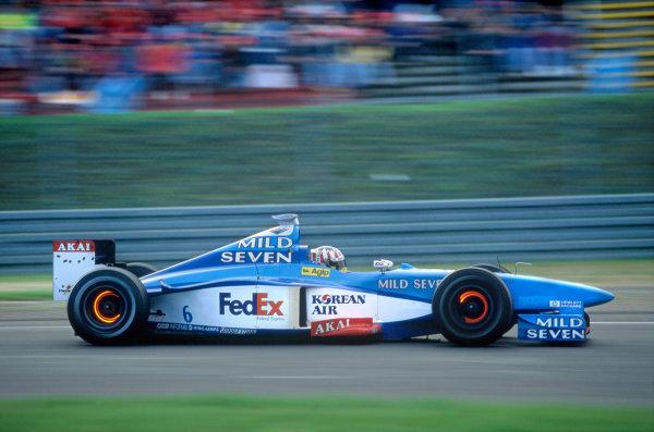 Monza, Italy. 11 - 13 September 1998.Alexander Wurz (Benetton B198 Playlife), retired, action. World Copyright: LAT Photographic.Ref: 98ITA