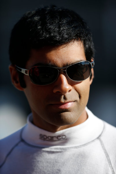 FIA Formula E Test Day, Donington Park, UK.  9th - 10th July 2014.  Karun Chandhok, Mahindra Racing. Photo: Glenn Dunbar/FIA Formula E ref: Digital Image _89P3208