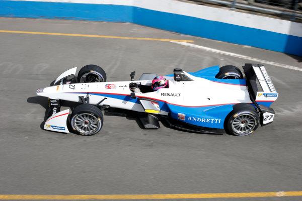 FIA Formula E Test Day, Donington Park, UK.  19th August 2014. Franck Montagny,  Andretti Autosport. Photo: Steven Tee/FIA Formula E ref: Digital Image _L4R0090