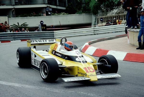 1980 Monaco Grand Prix.Monte Carlo, Monaco.15-18 May 1980.Jean-Pierre Jabouille (Renault RE20).Ref-80 MON 41.World Copyright - LAT Photographic