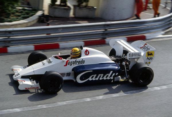 1984 Monaco Grand PrixMonte Carlo, Monaco. 31st May - 3rd June 1984Ayrton Senna, TolemanWorld Copyright - LAT Photographic