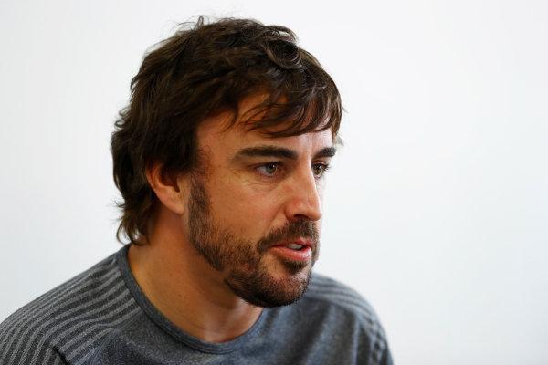 Baku City Circuit, Baku, Azerbaijan. Thursday 22 June 2017. Fernando Alonso, McLaren.  World Copyright: Steven Tee/LAT Images ref: Digital Image _R3I1356